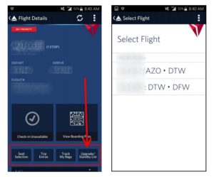 changes to fly delta app 3-11