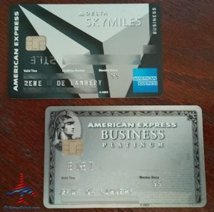 my delta amex reserve card and amex platinum business card renespoints blog