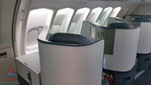 Delta Air Line 747 Delta One business class seat flight review NRT Japan to DTW Detroit RenesPoints blog (4)