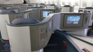 Delta Air Line 747 Delta One business class seat flight review NRT Japan to DTW Detroit RenesPoints blog (6)