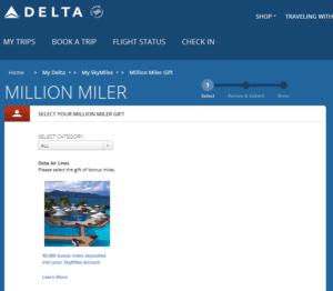 My Delta Million Miler flight - Delta Million Miler Gift Choices ...