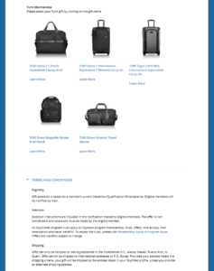 Delta million miler gift choices from Delta - com RenesPoints blog choice (5)