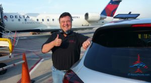 RenesPoints about to take Porche ride DTW Delta Special Services