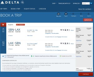 an example of savins with delta amex BOGOF cert renespoints blog