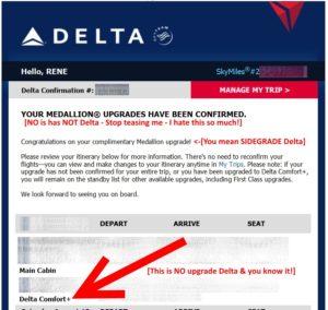 delta medallion sidegrade upgrage to comfort plus email