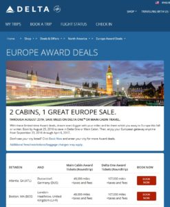 europe sale skymiles till 6april17