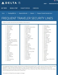 faster security lines with the Delta Reserve card