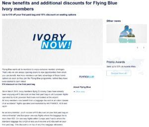 flying blue ivory perks