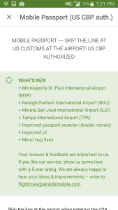 latest updates to the mobile passport app renespoints blog