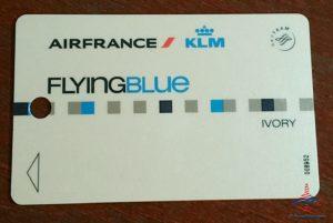 old real klm flying blue ivory card