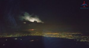 thunderstorm arriving MEX Mexico City Airport RenesPoints Travel Blog
