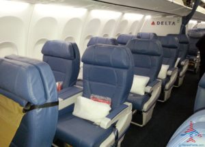 delta air lines domstic 1st class seat