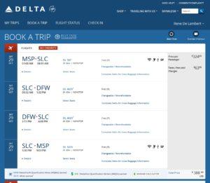 delta-com msp to dfw 1st