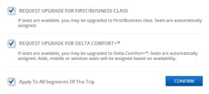 should you check the boxes for comfort plus upgrades