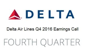 Delta Q4 2016 earning call highlights for freqent flyers renespoints blog