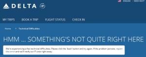 Delta - com down again