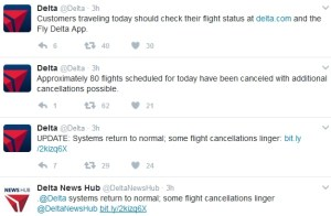 delta on twitter about outage