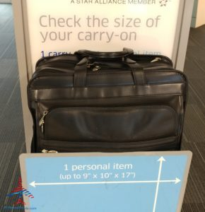 What is the United and American Airlines carryon bag check real size check tester like - we compare RenesPoints blog Review (3)