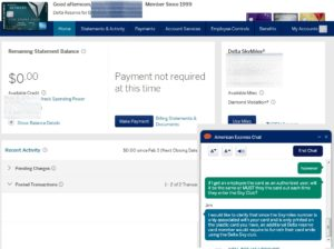 amex online chat confirms an AU must show card