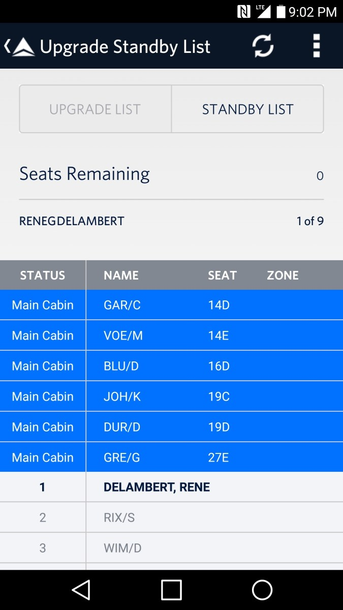 missed my standby flight by one seat the real TeamBoardLast RenesPoints blog