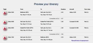 BWI - DFW Delta Details