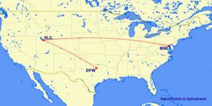 BWI - DFW Delta Route