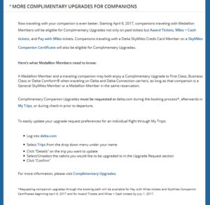 delta update on upgrades with bogo and more