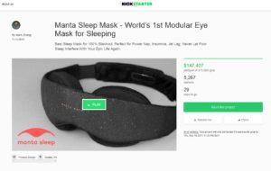 kickstarter eye mask