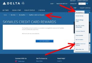 skymiles credit card rewards on delta-com