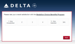 New Delta Air Lines SkyMiles survey for 250 SkyMiles - how would you vote (10)