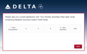 New Delta Air Lines SkyMiles survey for 250 SkyMiles - how would you vote (11)