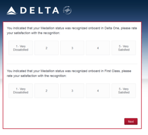 New Delta Air Lines SkyMiles survey for 250 SkyMiles - how would you vote (15)