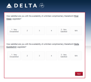 New Delta Air Lines SkyMiles survey for 250 SkyMiles - how would you vote (16)