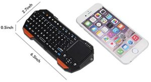 phone sized keyboard with touchpad