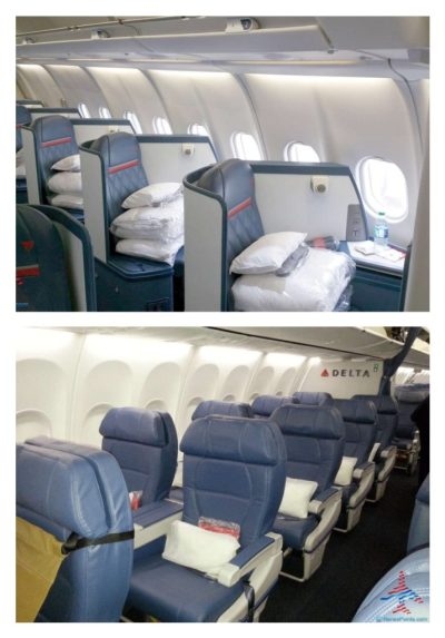Delta One business class seat and domestic first class seats RenesPoints blog