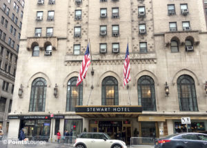The Stewart Hotel New York City exterior and front entrance
