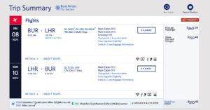 Burbank (BUR) to London Heathrow (LHR) Delta Mileage Run