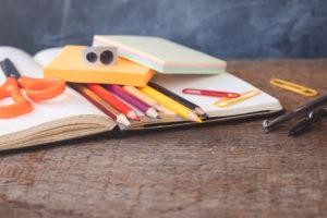 School supplies are a nice way to help meet minimum credit card spend! (Photo credit: ©iStock.com/Ekaterina Senyutina)