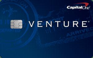 Capital One Venture travel rewards credit card.