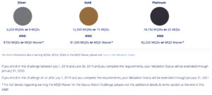Delta Status Match Challenge requirements in 2019 for the 2021 Medallion year.