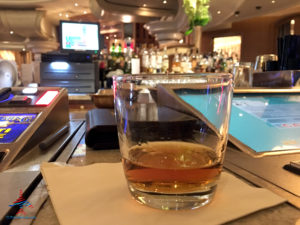 A Knob Creek bourbon whiskey drink is served at American Express Fine Hotels & Resorts and Chase Luxury Hotels & Resorts partner Bellagio Las Vegas circle bar.