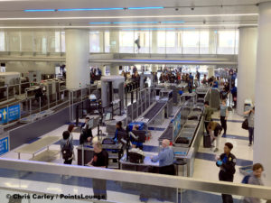 TSA security checkpoint at LAX Terminal 7.