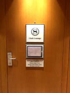 Entrance to the Sheraton Club Lounge at Sheraton Paris Airport Hotel & Conference Centre at CDG.