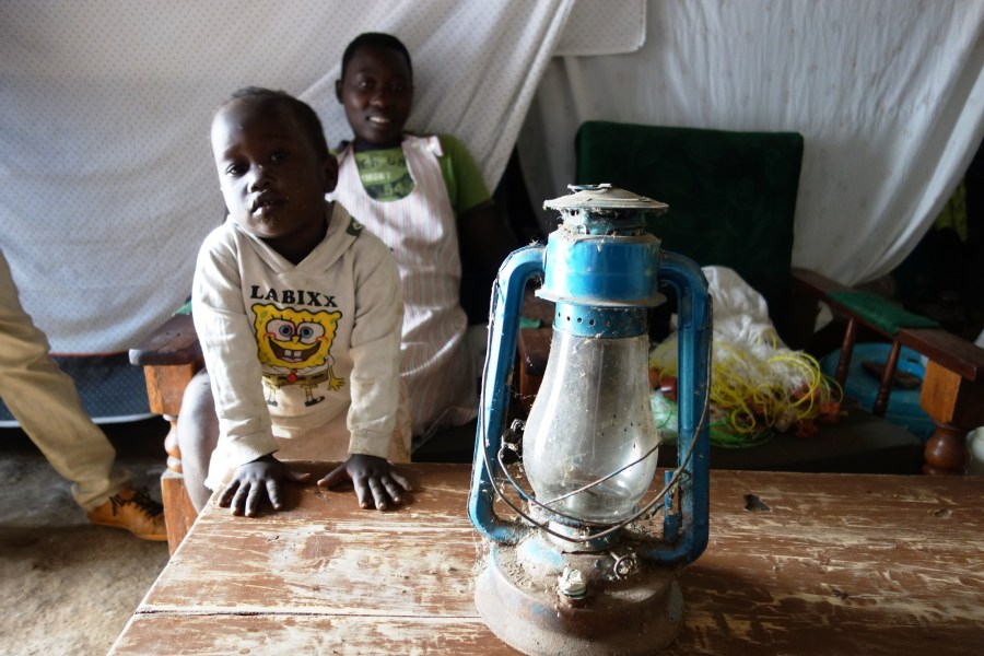 Kenneth's kerosene lamp.