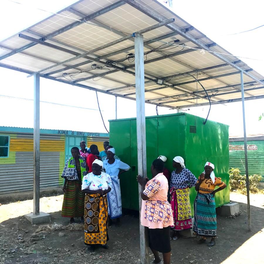 A solar micro-grid in Kenya