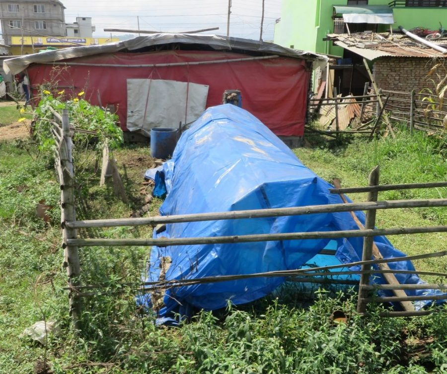 A big digester in a Nepalese community.