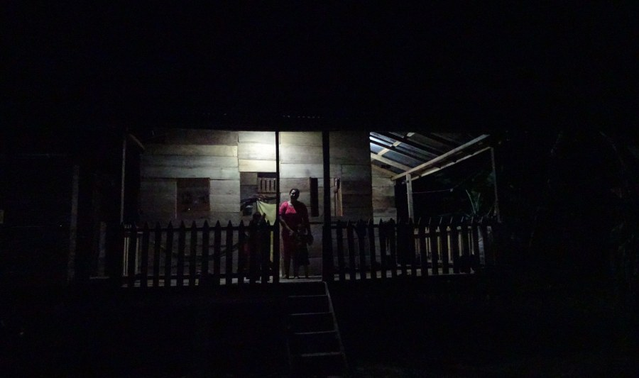Maricela's house stands out in the darkness thanks to solar energy