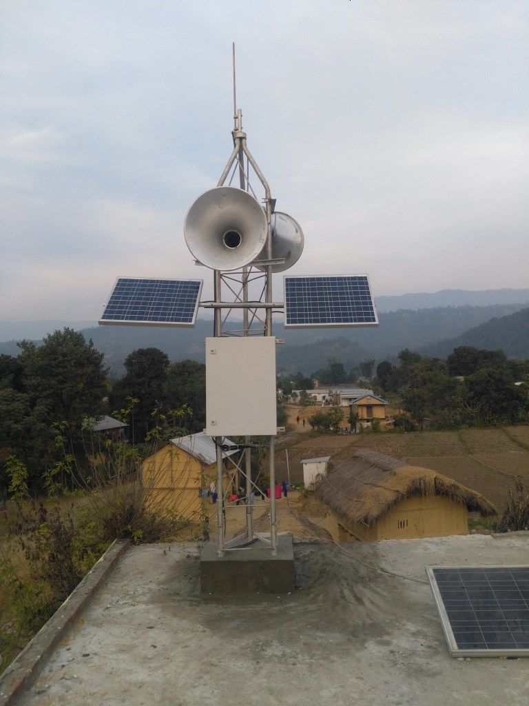 The early flood warning system