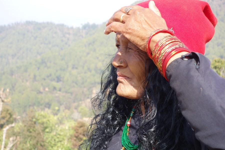 A close up of a Nepali woman