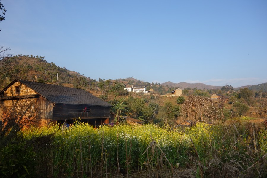 A view of a rural Nepali village